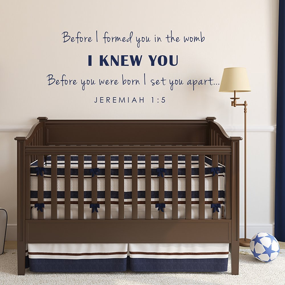 Baby Nursery Wall Decal Before I Formed You In The