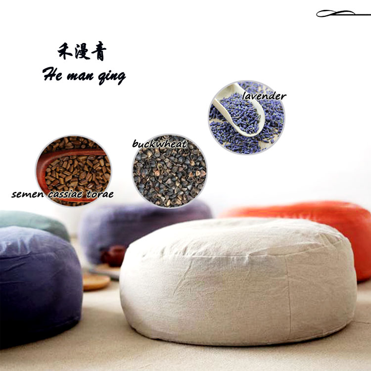 custom water-proof cotton cavans floor cushion buckwheat hulls zafu meditation seat zafu cushion