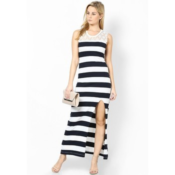 jersey jurk met split