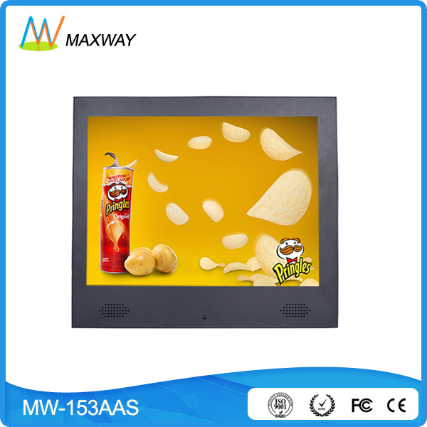 Professional ad functions 15 inch digital signage lcd display