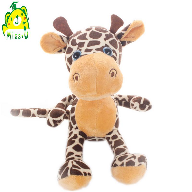 factory oem&odm forest animal plush stuffed toy cartoon giraffe