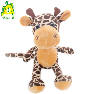 factory oem&odm forest animal plush stuffed toy cartoon giraffe