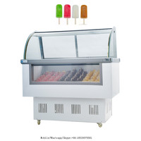Vertical Single glass door ice cream upright display freezer with high quality
