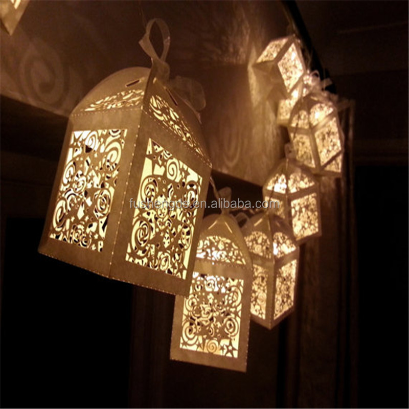 Magical Lantern Fairy Lights Cream Ivory Perfect Christmas Or Wedding Decoration Battery 10 Led