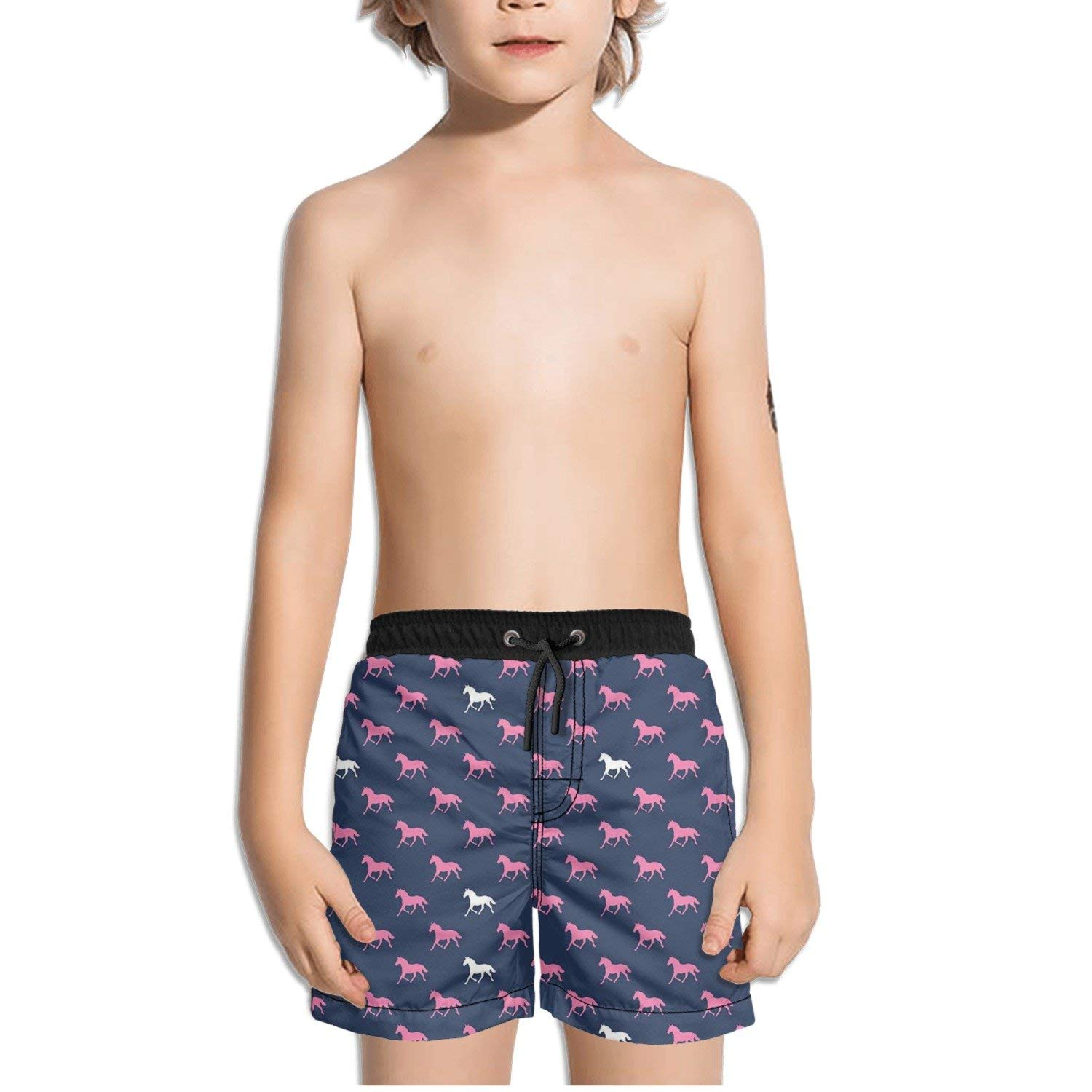 Mens Swim Trunks Tiny Watercolor Summer Ice Creams Quick Dry Beach Board Shorts with Mesh Lining