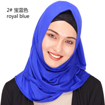 New Hijab Scarf Solid Color Quality Best Choice Prayer Luxury 2019 Cotton Jersey Hijabs