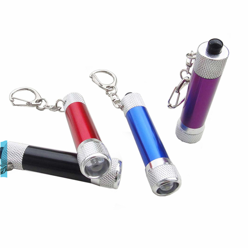 Promo aluminium alloy LED Flashlight Torch with Keyring