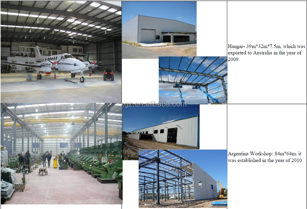 Hot Sale Africa Project Prefab Steel Warehouse/Factory/Shed from China XGZ