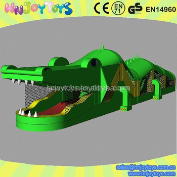 new arrival inflatable crocodile baby obstacle courses on sale