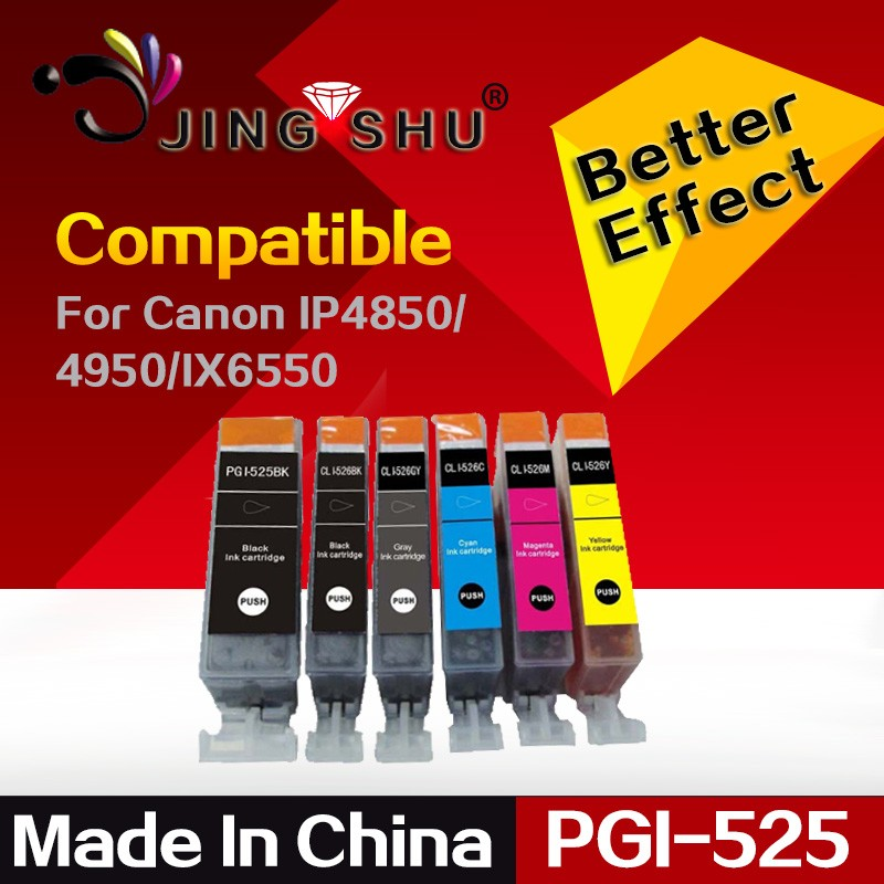 Compatible PGI-525 CLI-526 Ink Cartridge for Canon PIXMA IP4850/4950/IX6550/MG5150/5250/5350/6150/6250/8150/8250/MX715/885/895