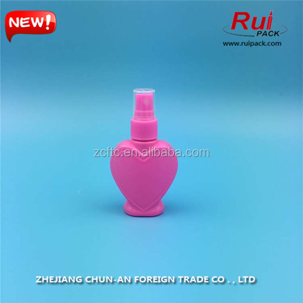hot sale plastic fine mist sprayer pump for sweet heart perfume plastic bottle