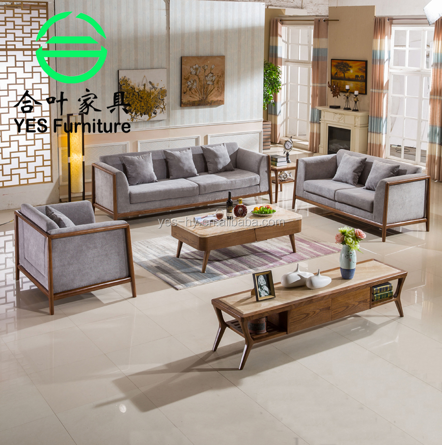 Foshan furniture factory solid wood <strong>sofa</strong> , genuine leather modern style Living Room <strong>Sofas</strong> 710