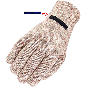 Cold workwear glove 3M thinsulate Insulated Ragg Wool knitted Glove for Winter cold work or Cold store warehouse