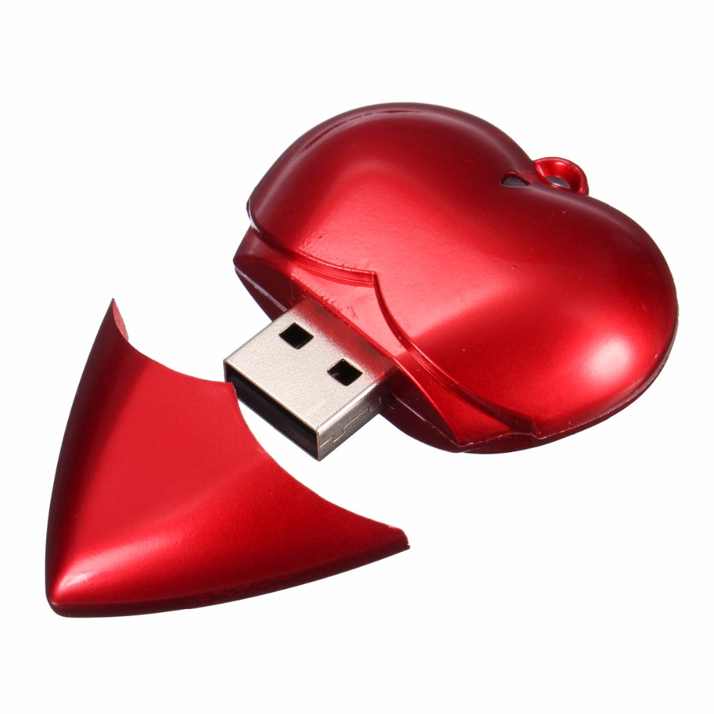 new design red heart usb memory stick pen drive 16GB custom logo usb flash drive