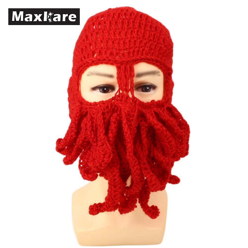 4f269e30122 2019 Comfortable Octopus Ski Cap Hat Beanies Ski Mask Funny Winter ...