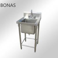 Stainless steel single sink, sink cabinet kitchen, hand wash sink prices