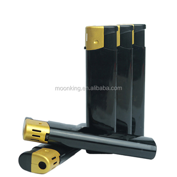 High quality black color make your own logo silk printing gas refillable lighter