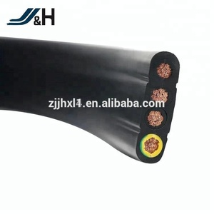 VDE CE Standard Flat Travel Elevator Cable H05VVH6-F H07VVH6-F TVVB PVC Insulation cable