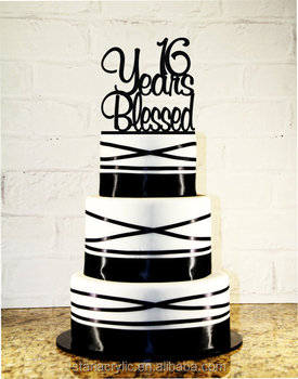 16th Birthday Cake Topper 16 Years Blessed CustomCustomize Number