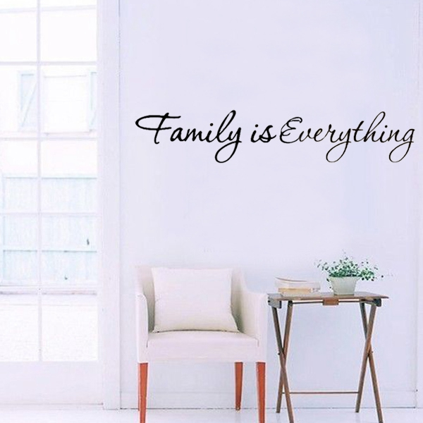 Fashion High Quality DIY Family is Everything Removable Art Vinyl Quote Wall Sticker Mural Decorative Stickers Home Decor