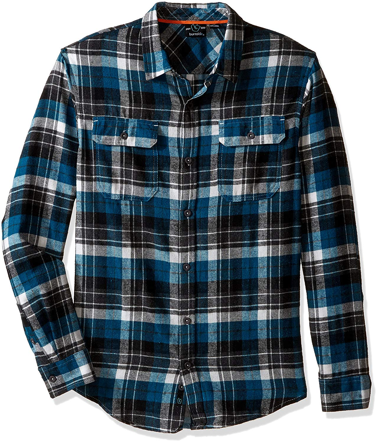 Diamond Ombre Flannel Long Sleeve Buttonup X-LARGE Black Shirt