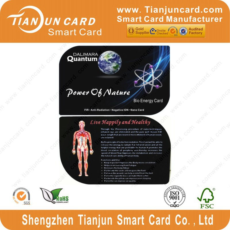 Quantum Scalar Negative Ions Bio Energy Card