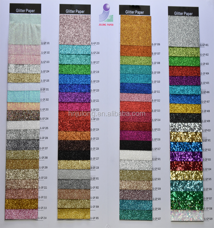 China Factory A4 farbiges Glitterpapier 120g / 250g