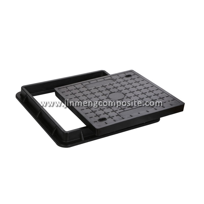 EN124 D400 frp composite square manhole cover Fiberglass Gully Grate waterproof manhole cover with screws