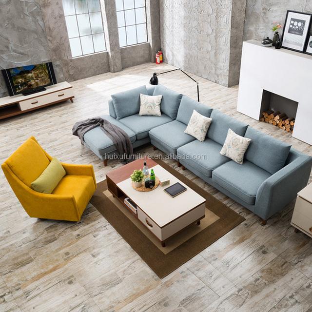 Bright Colored Sofa Set Home European Fine Furniture Design Living Room