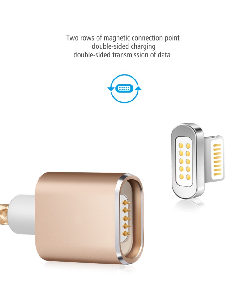 Wholesale nylon 8 pinfast cell phone magnetic mirco usb charger data cable for iphone android