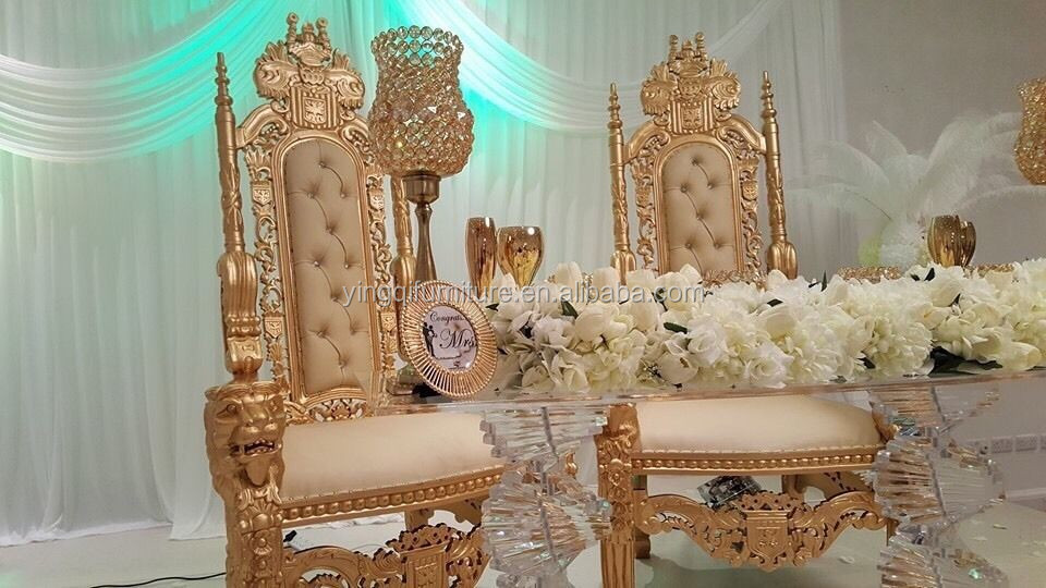 French Style Wedding Royal King Throne Chairs For