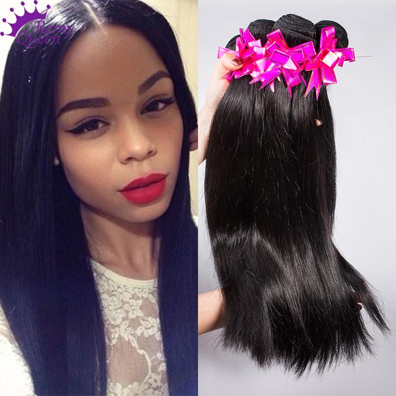 Peruvian Virgin Hair Straight 4 Bundles Human Hair Weave ...