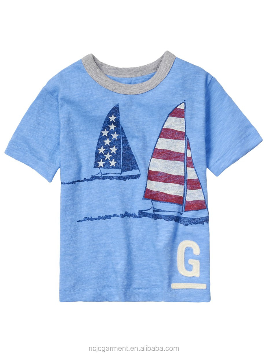 Custom Sailing Vessel T Shirts Kids T Shirt Printed T
