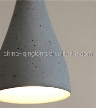 Cement Pendant Lamp Ceiling Lighting Housing