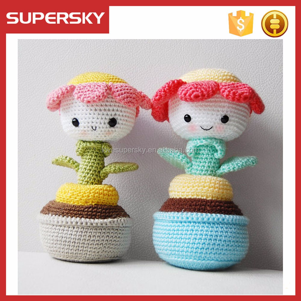 Kids toys Crochet Doll Amigurumi Doll in Yellow Hat Soft Toy ... | 1000x1000
