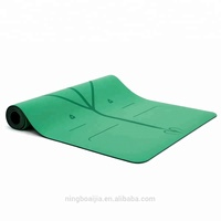 Eco Friendly PU Natural Rubber Yoga Mat With Full Size Laser Engraving