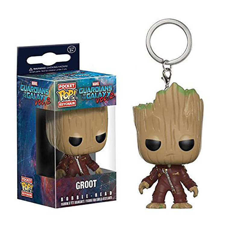 VOL.2 Groot keychain Red suits funko guardians of the galaxy keyrings