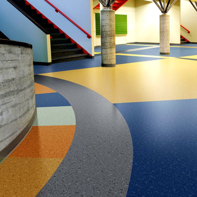 Commercial use UV coating foam backing vinyl sheet floor.png