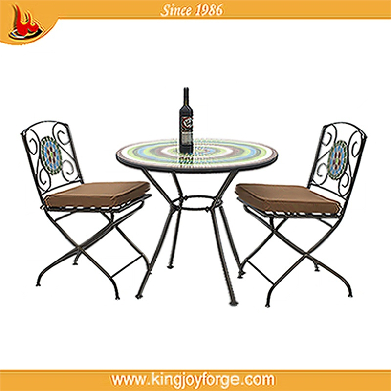 excellent quality metal folded garden outdoor bistro sets