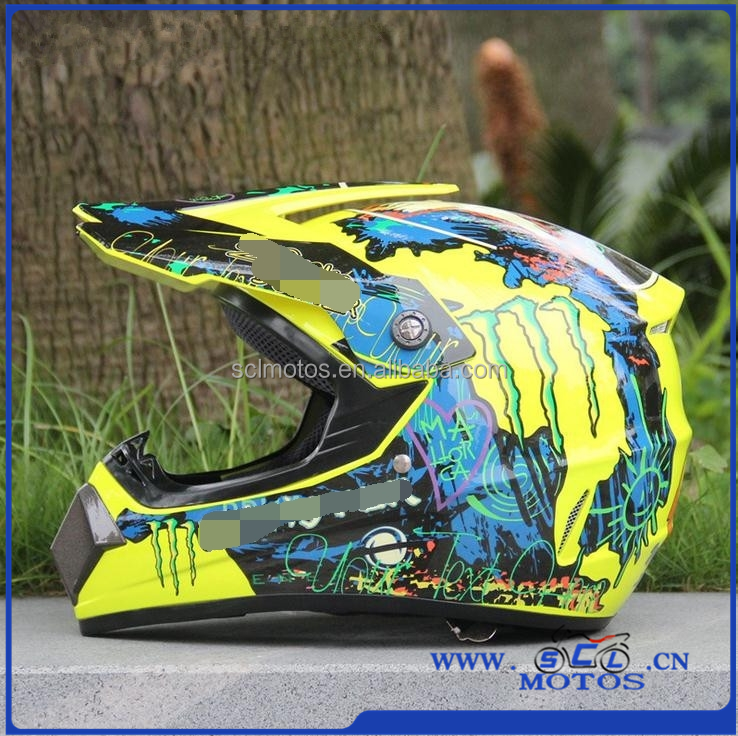 Quality Newest ABS Motorcycle Helmet of Full Face Unisex Graffiti Protective Capacete for Motocross Size S M L