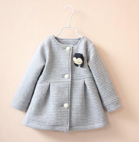 Little Girls Clothes Korea Design Long Coat - Buy Little Girls