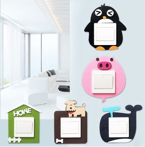 Wholesale Custom design Wall Stickers Felt Switch Sticker For Room Decoration