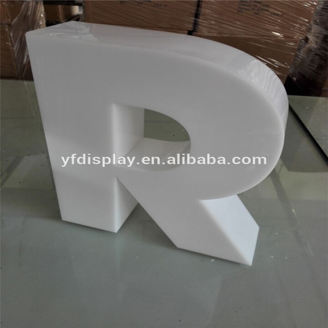 Translucent White Acrylic 3D Light Box Letter Sign