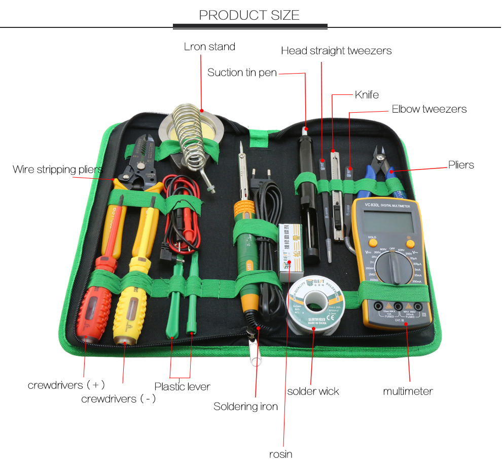 BST-113 Precision Multi-purpose repair tool kit for mobile phone laptop computer