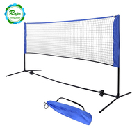 Custom Mini Polyester Practice Indoor and Outdoor badminton net stand with poles