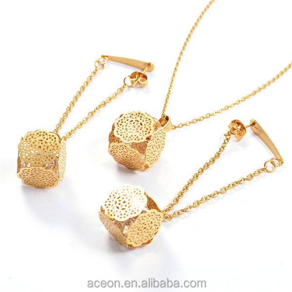 Yiwu Aceon Stainless Steel Trendy Drop Earring 3d Design Crystal