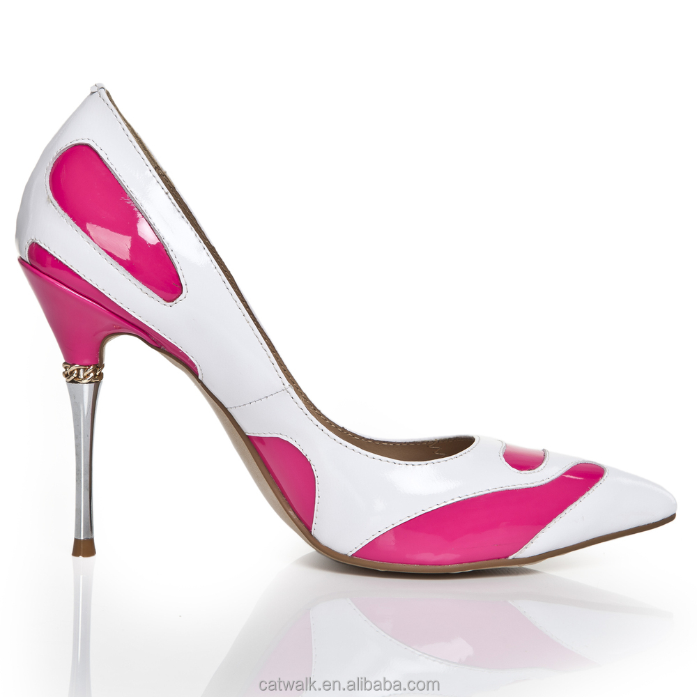 Pink Low Heel Dress Shoes