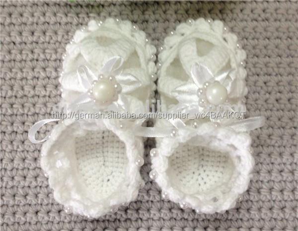 Gehäkelten Babyschuhe Häkeln Baby Sandalen Mit Perlen Babyschuhe