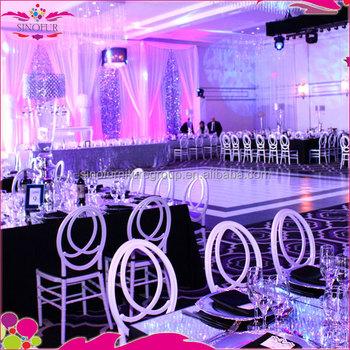 New Design Qingdao Sinofur White Phoenix Chair For Wedding Reception