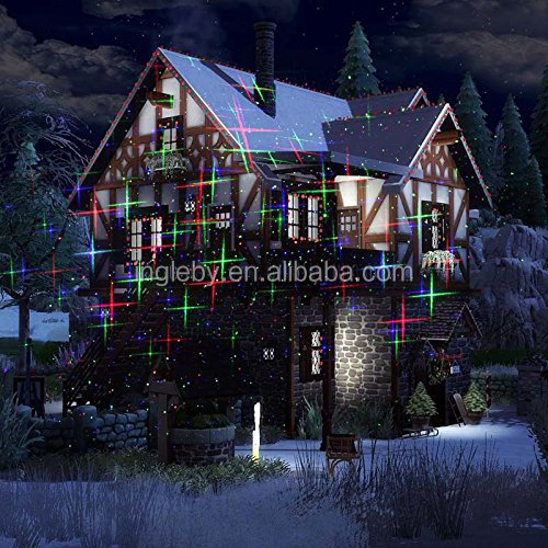 2017 Wireless control R&G Holiday Outdoor Laser Lights For Trees Waterproof Outdoor Laser Lighting projector Garden Laser Light